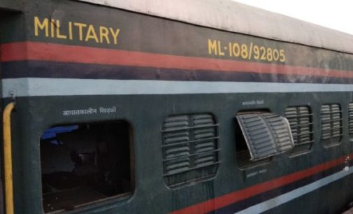 Gas cylinder explodes in military train, 2 injured